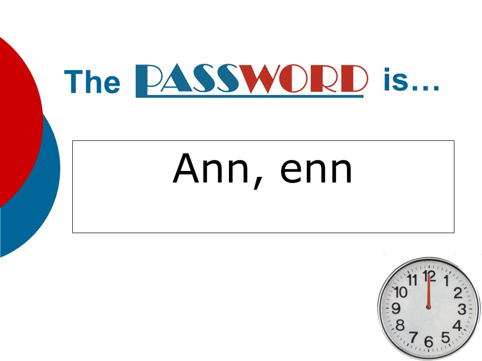 The is… Ann, enn