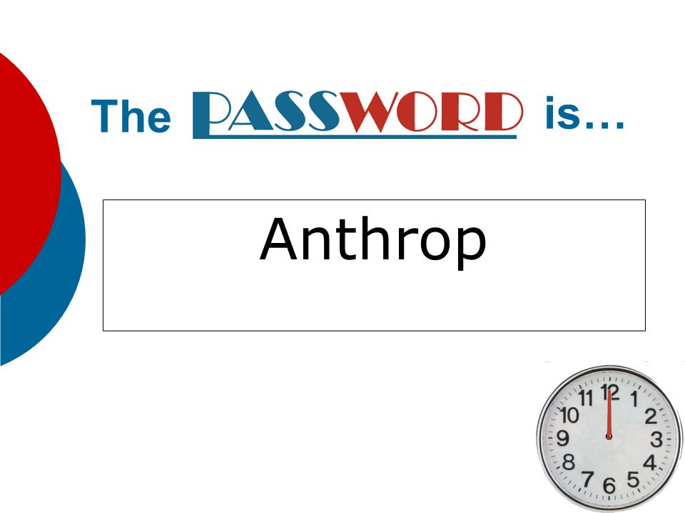 The is… Anthrop