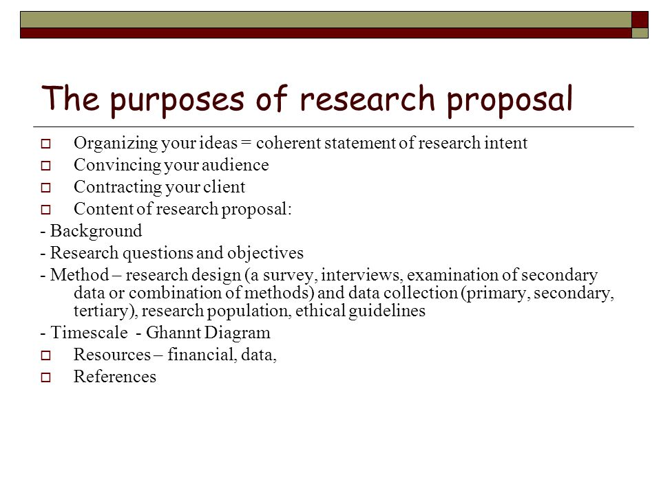 dissertation research project proposal