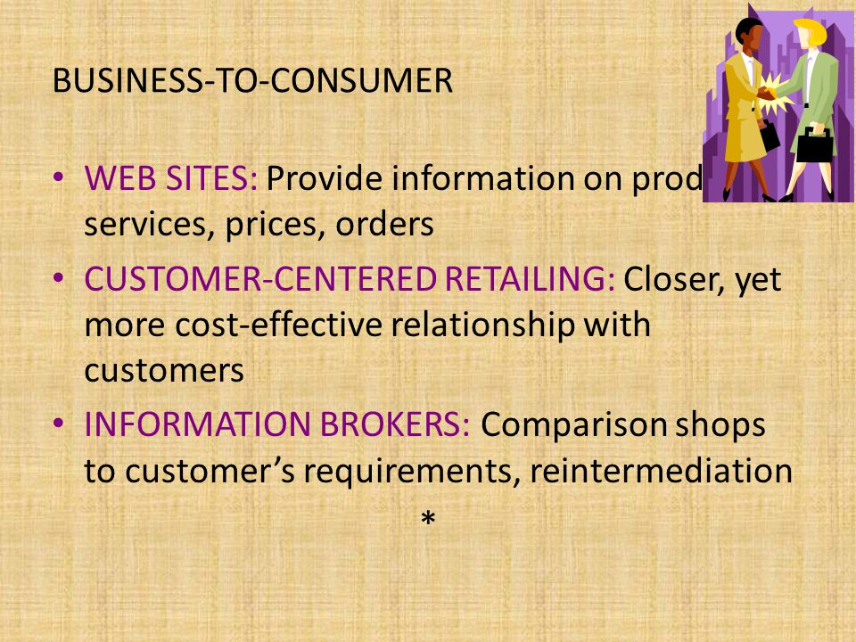 electronic commerce and business to consumer b2c relationship