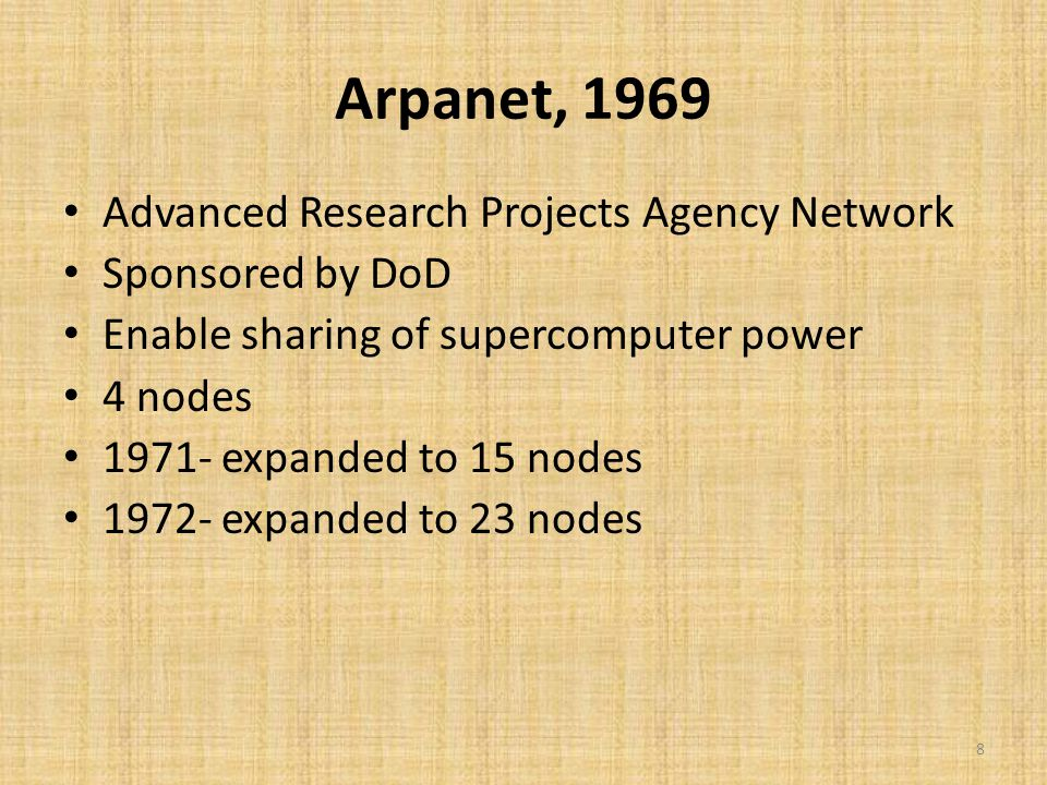 Names For Networked World >> Internet History and Growth - ppt video online download
