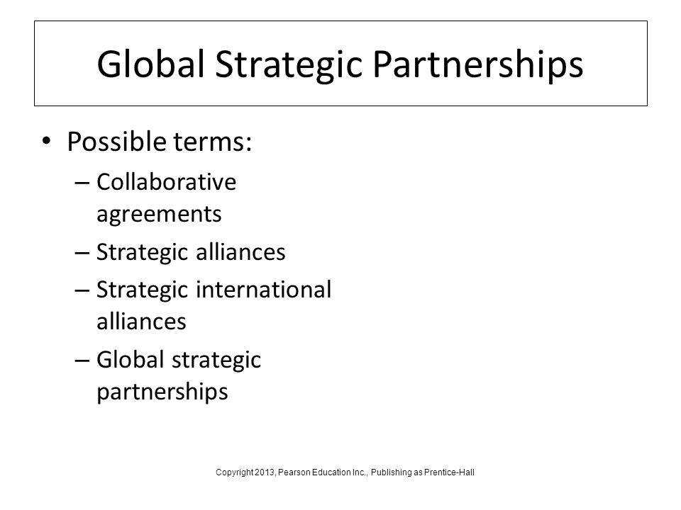 global strategic alliances 2 Global strategic alliance is a faith-based organization whose mission is to restore judeo-christian values to the moral and civic framework on a local.