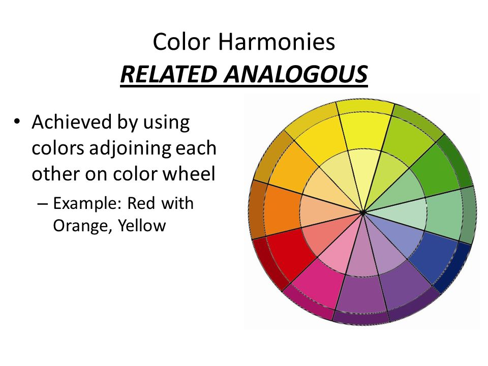 Why is color important in floral design ppt video for Color wheel examples