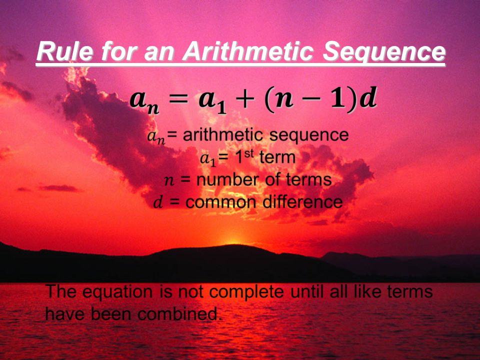 how to find the nth term arithmetic