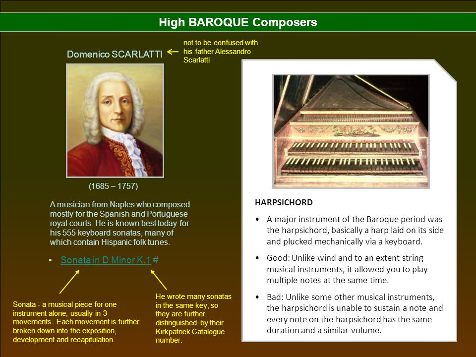 High BAROQUE Composers
