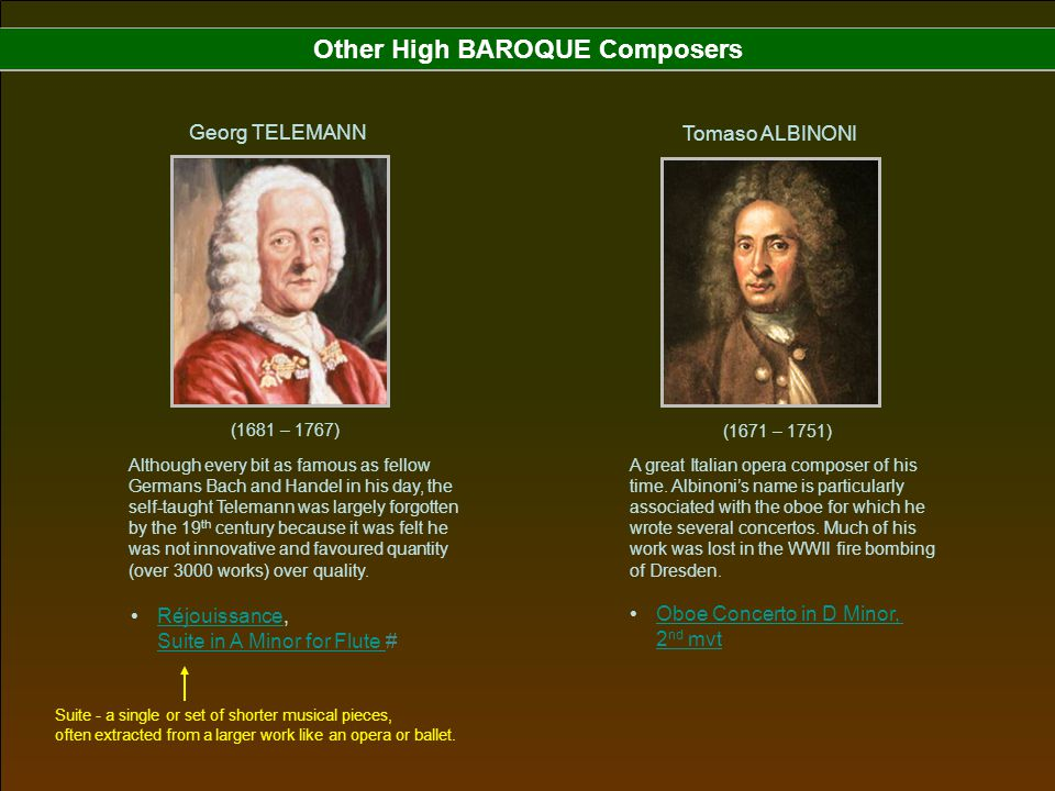 Other High BAROQUE Composers