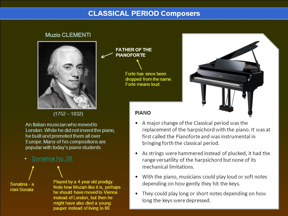 CLASSICAL PERIOD Composers