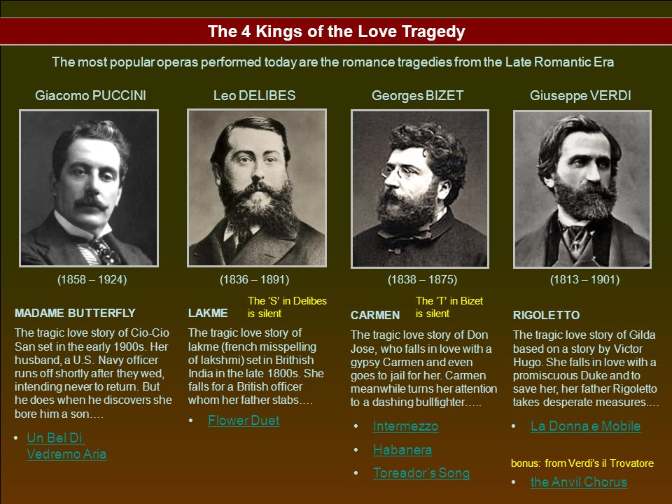 The 4 Kings of the Love Tragedy