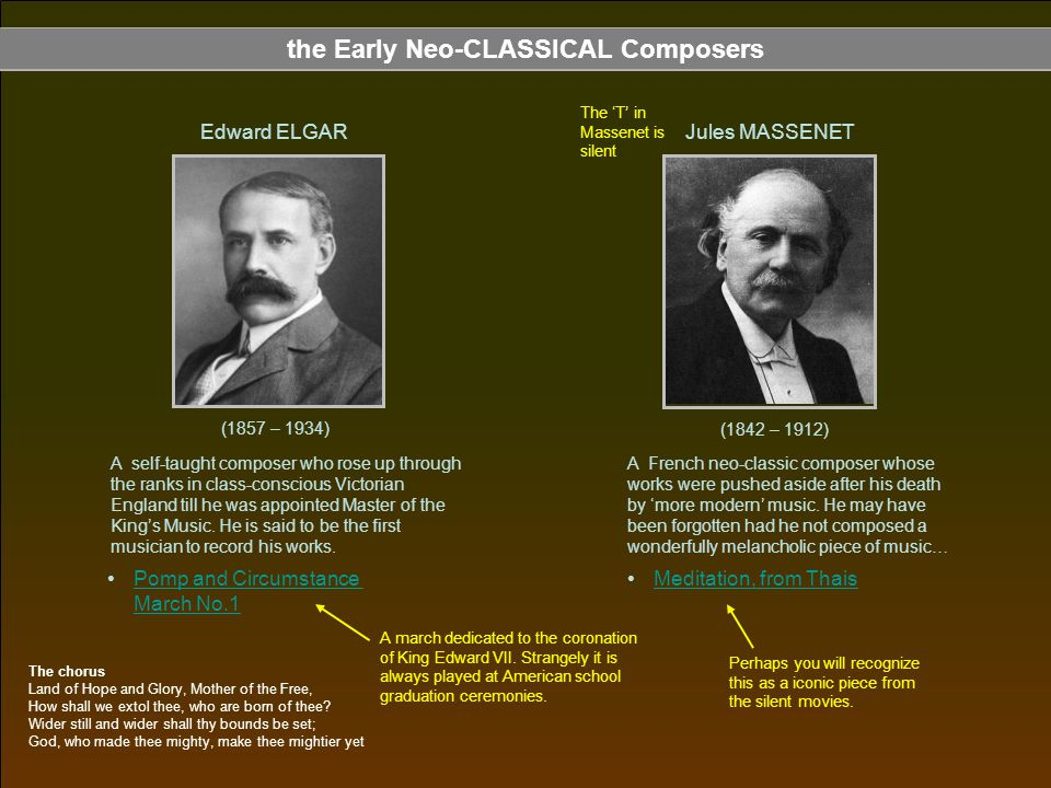 the Early Neo-CLASSICAL Composers