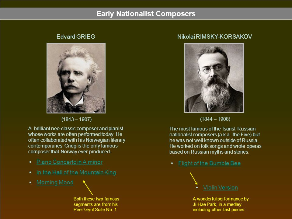 Early Nationalist Composers