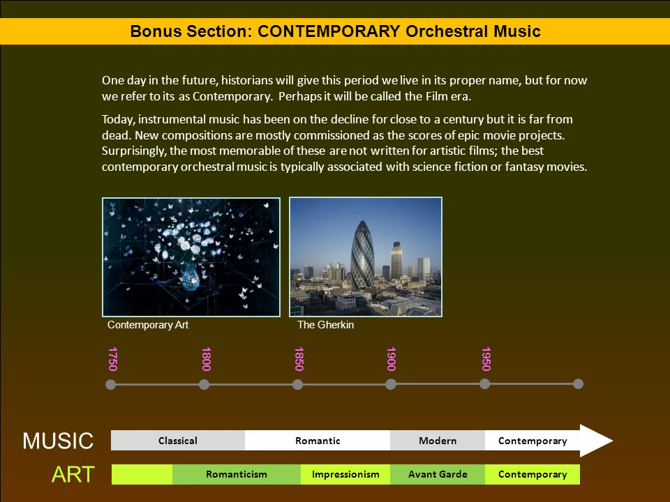 Bonus Section: CONTEMPORARY Orchestral Music