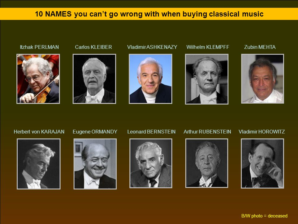 10 NAMES you can't go wrong with when buying classical music