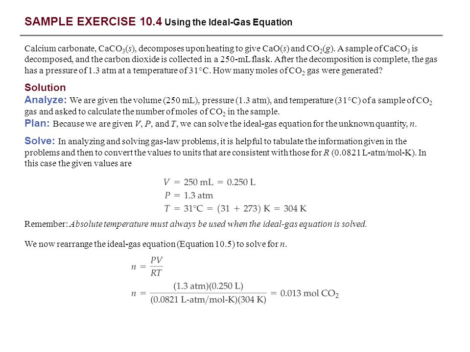 SAMPLE EXERCISE 10.1 Converting Units of Pressure - ppt download