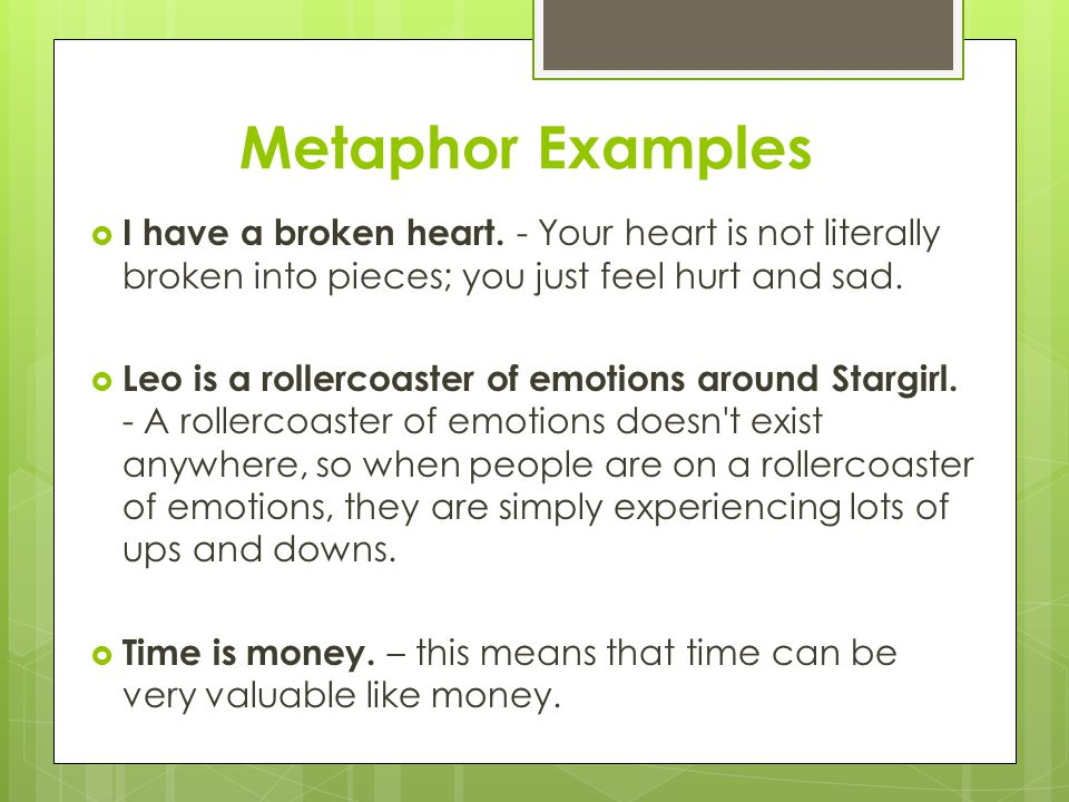 how to find metaphors in a song