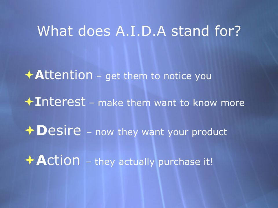 What does A.I.D.A stand for