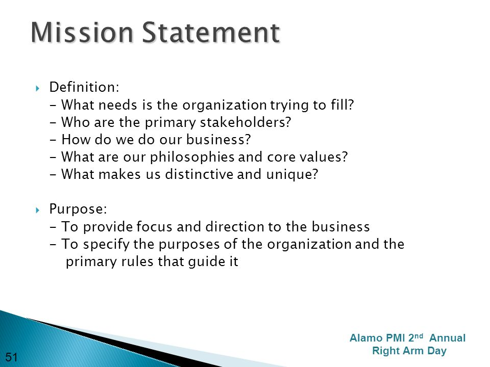 Mission statement meaning