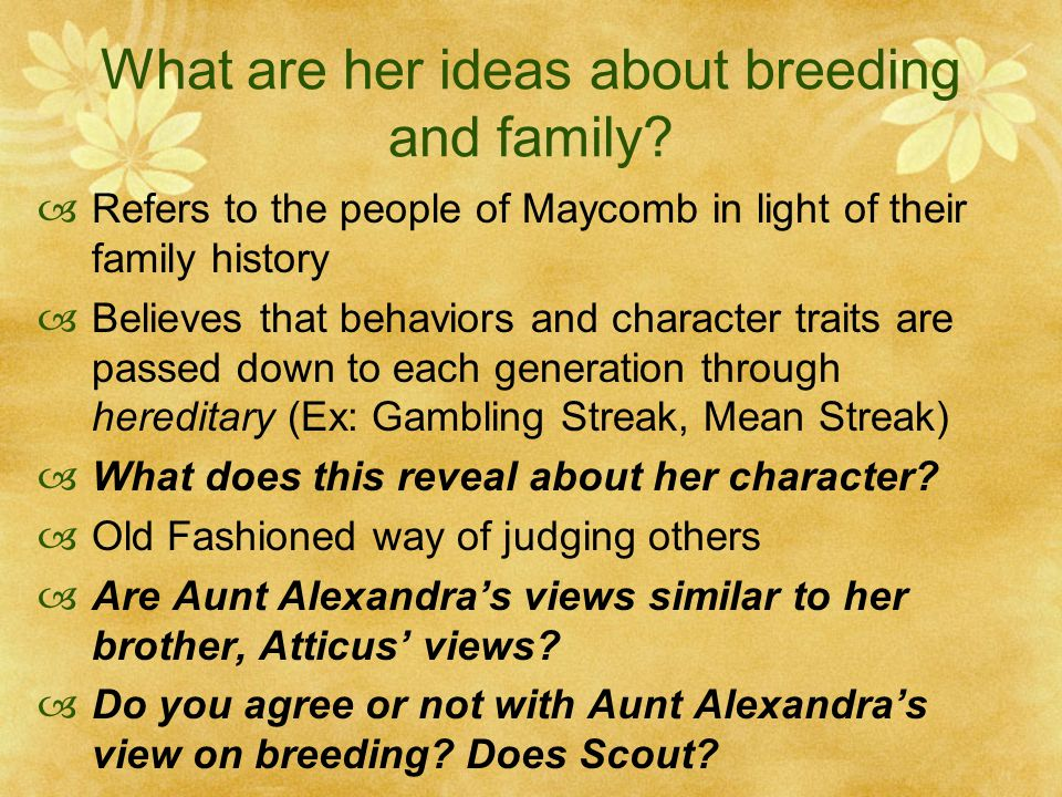 black people and aunt alexandra An essay or paper on to kill a mockingbird's similarities and differences in real life there are many types of people black people aunt alexandra.