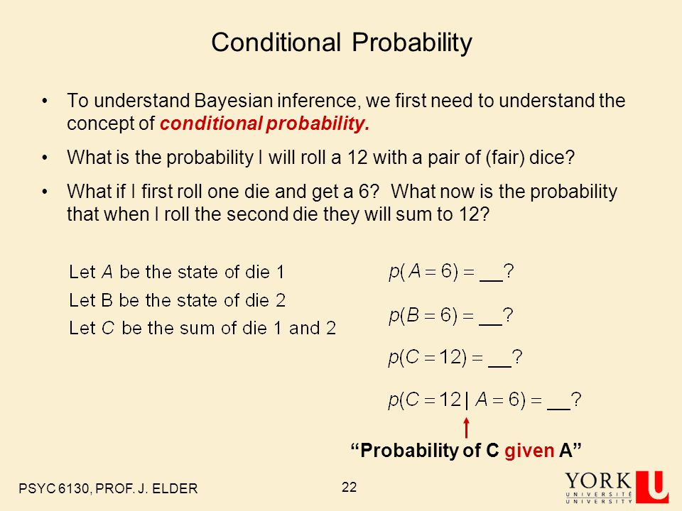 how to know ig probabilities are statistically independent or dependent