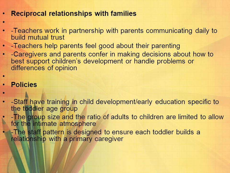 reciprocal relationship in child development