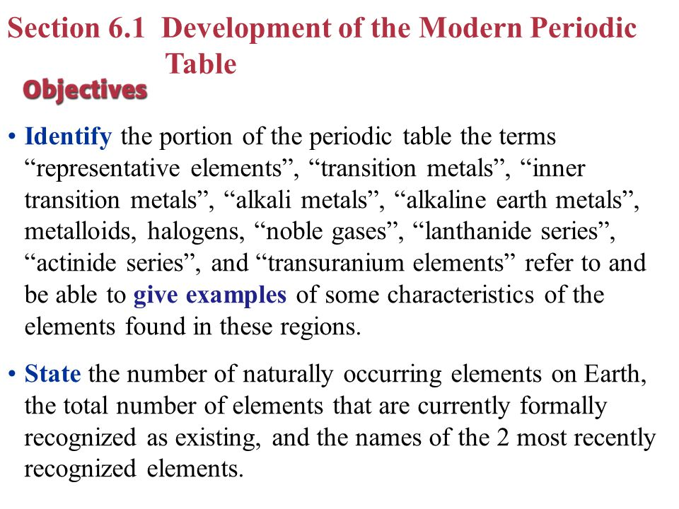 Chapter 6 periodic table periodic law ppt video online download section 61 development of the modern periodic table urtaz Gallery