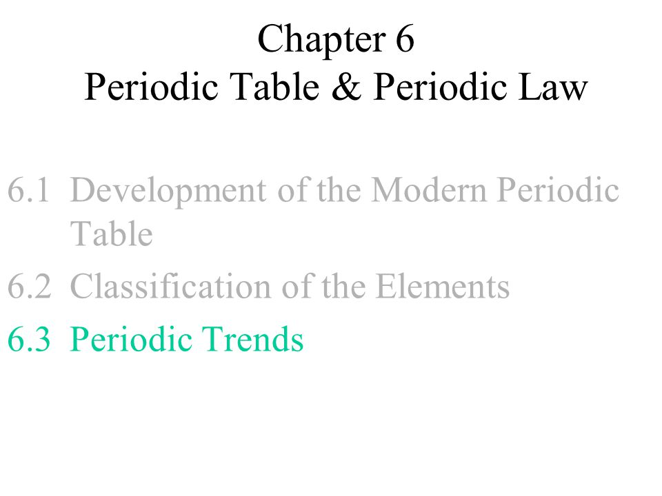 Chapter 6 The Periodic Table And Periodic Law Answers Periodic – Periodic Law Worksheet