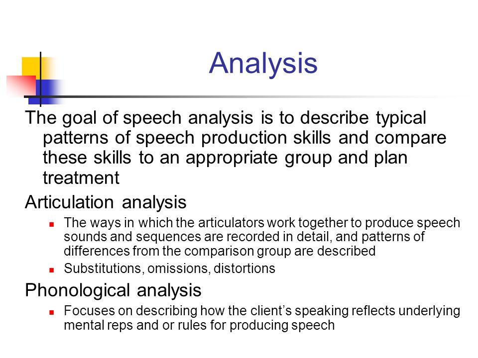 speech analysis