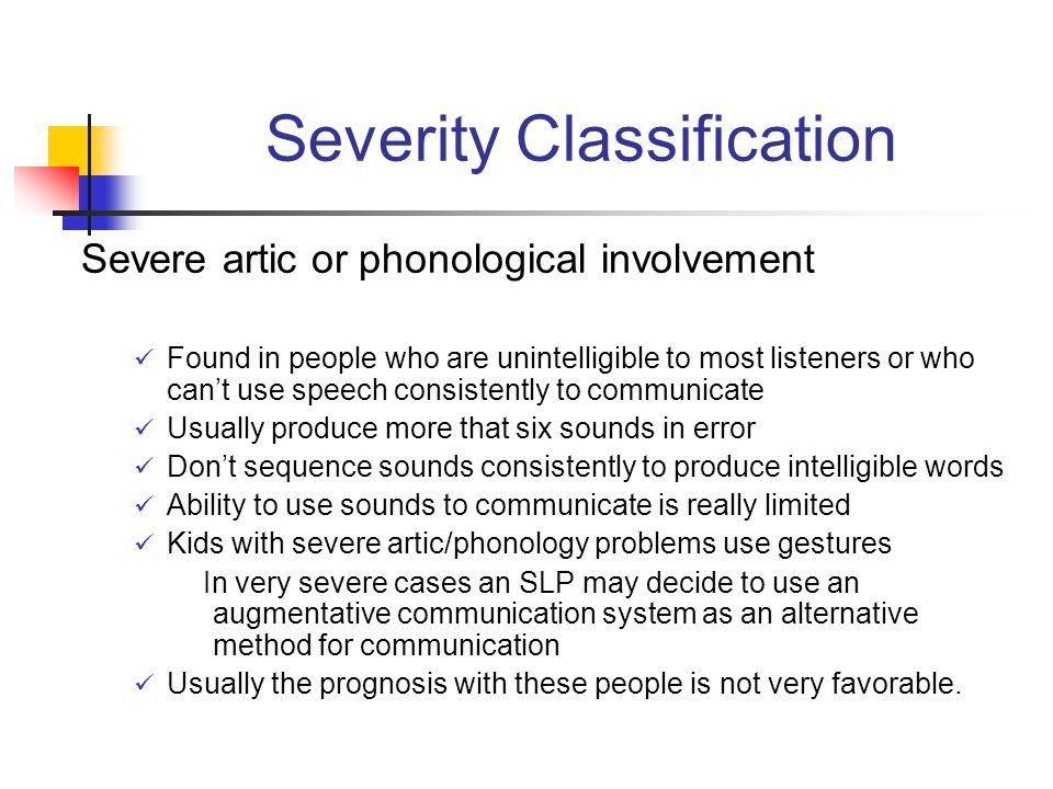 Severity Classification