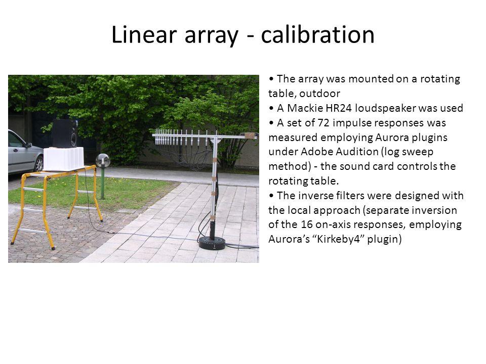 Linear array - calibration