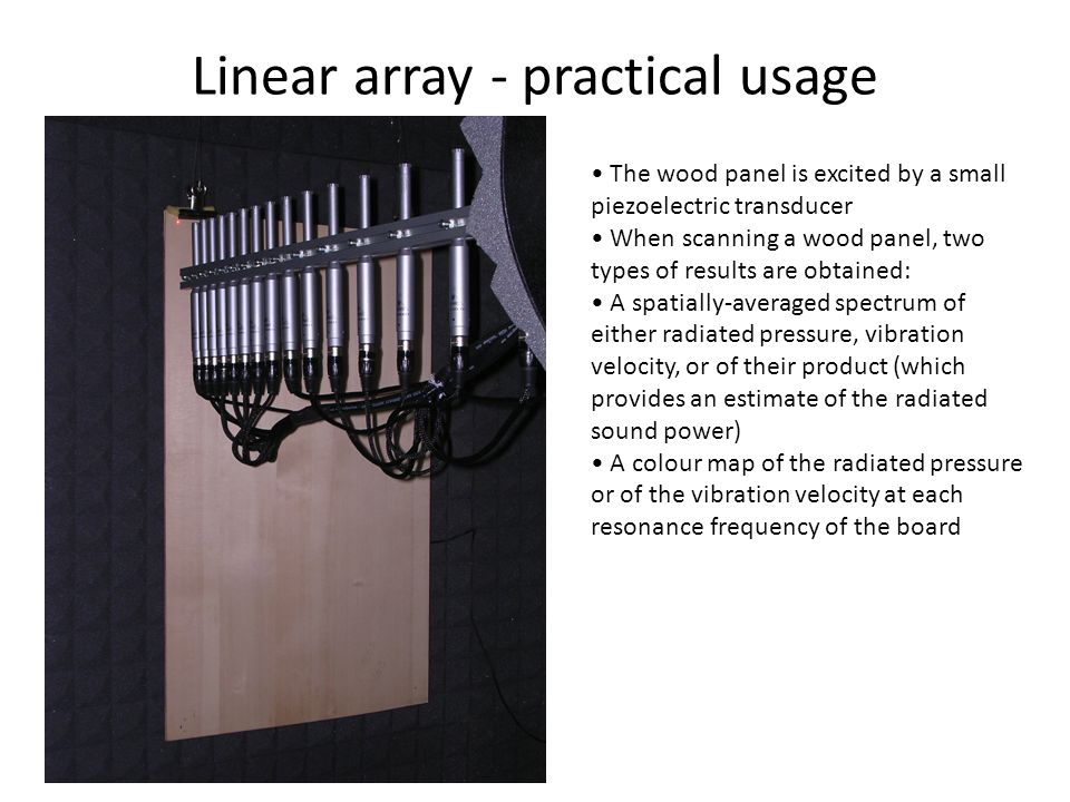 Linear array - practical usage
