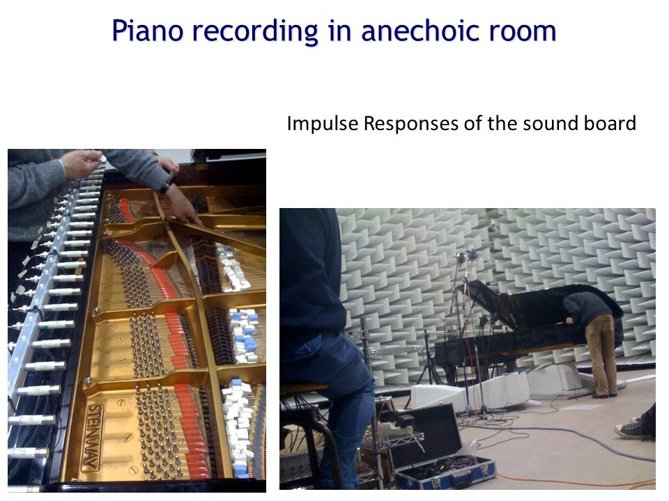 Piano recording in anechoic room