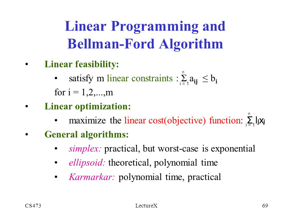 Linear Programming with Objective Function and Constraints