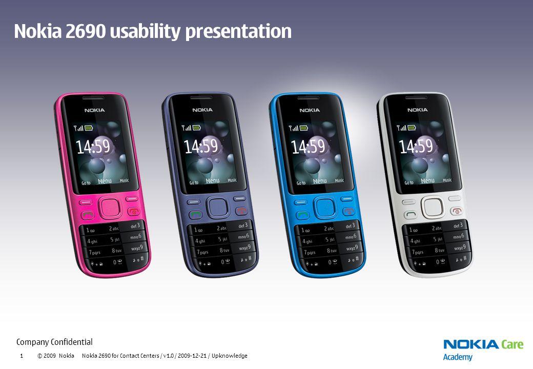 Nokia 2690 usability presentation