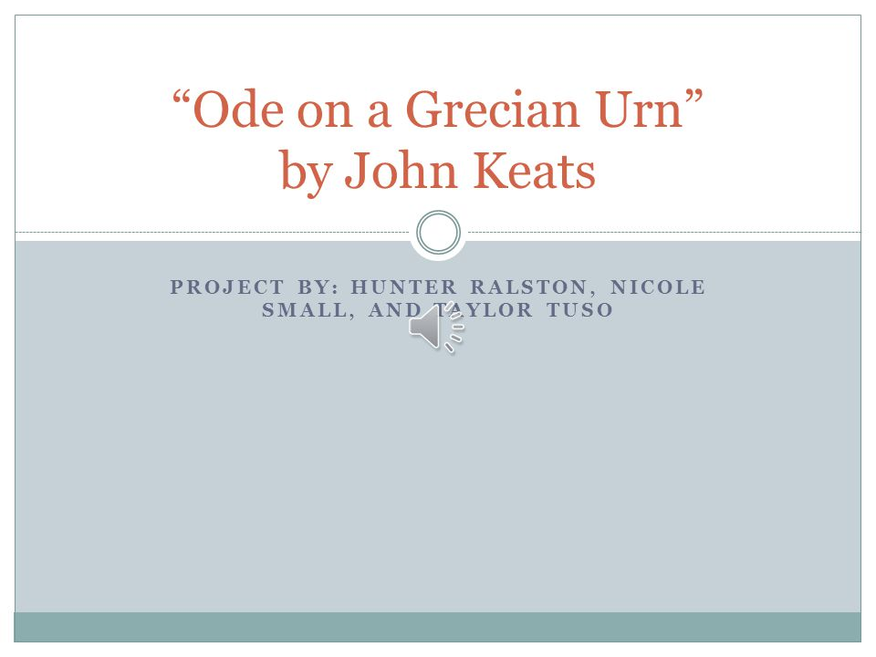 an analysis of the poem ode on a grecian urn by john keats