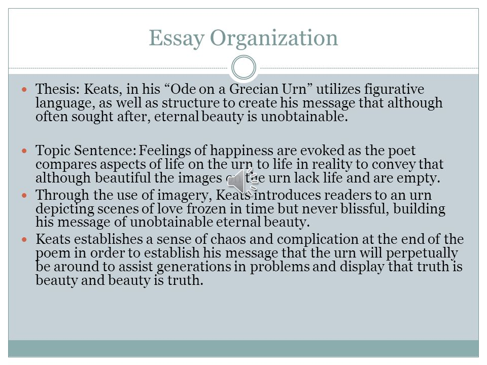 grecian urn essay Sample of john keats: ode on a grecian urn essay (you can also order custom written john keats: ode on a grecian urn essay.