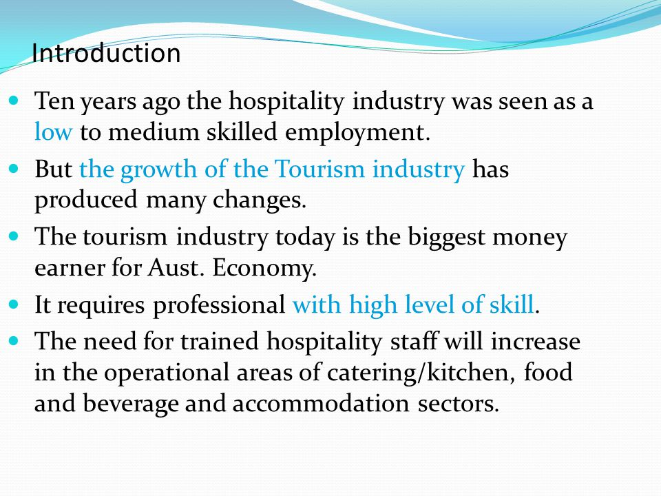 introduction of catering industry You'll learn about the various roles available within the catering and hospitality trade and decide which one best fits you from general cooking skills to front of house skills, this programme will let you explore the various career opportunities this exciting industry has to offer.