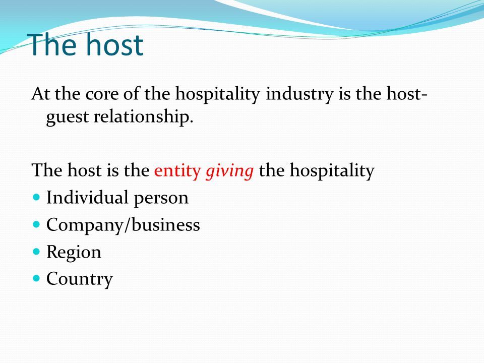 host and guest relationship
