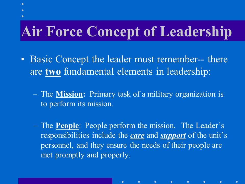 Air Force Concept of Leadership