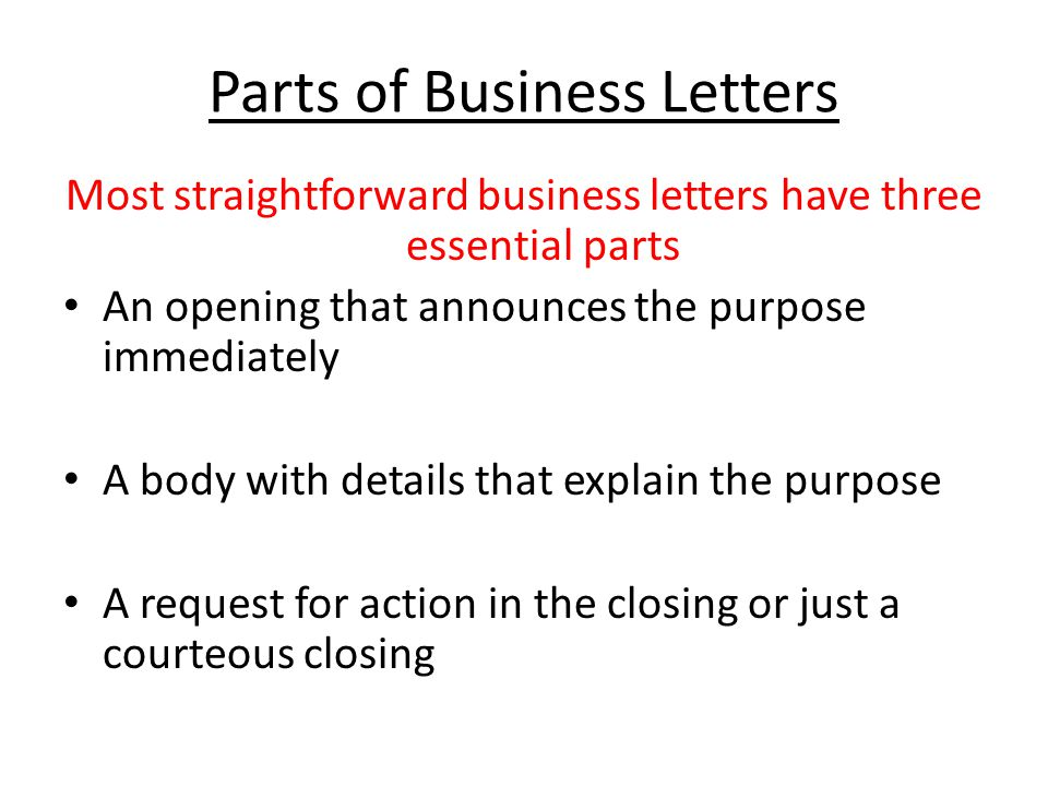 Writing Business Letters Ii - Ppt Video Online Download