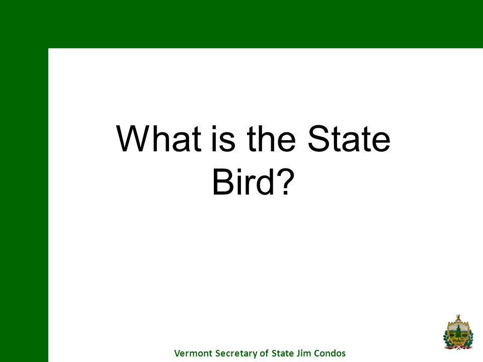 Vermont Secretary of State Jim Condos