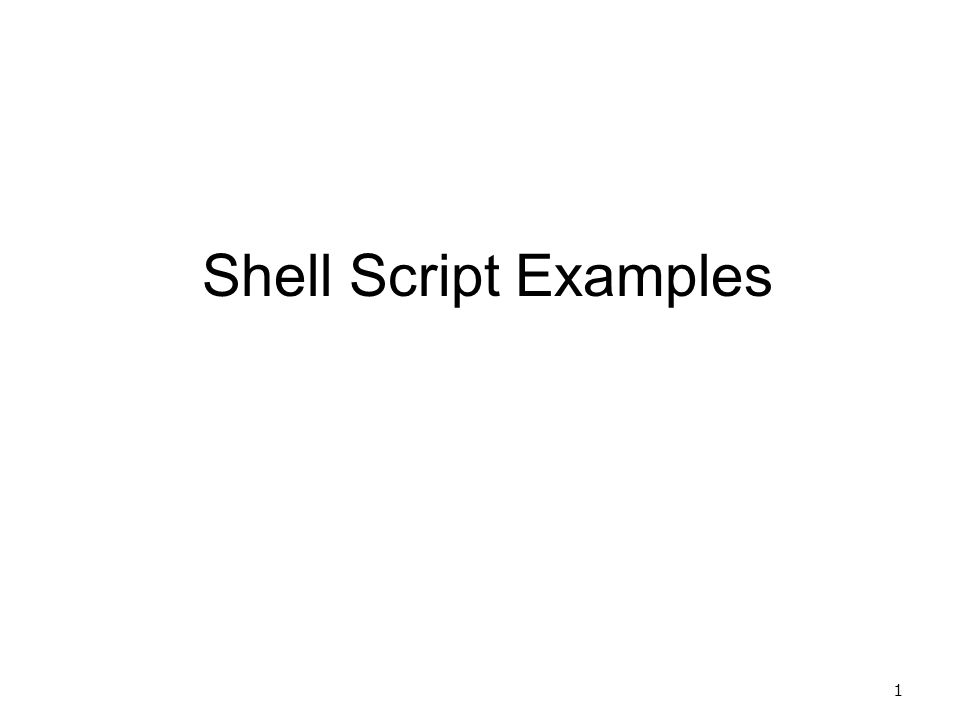 Shell Script Examples Ppt Video Online Download