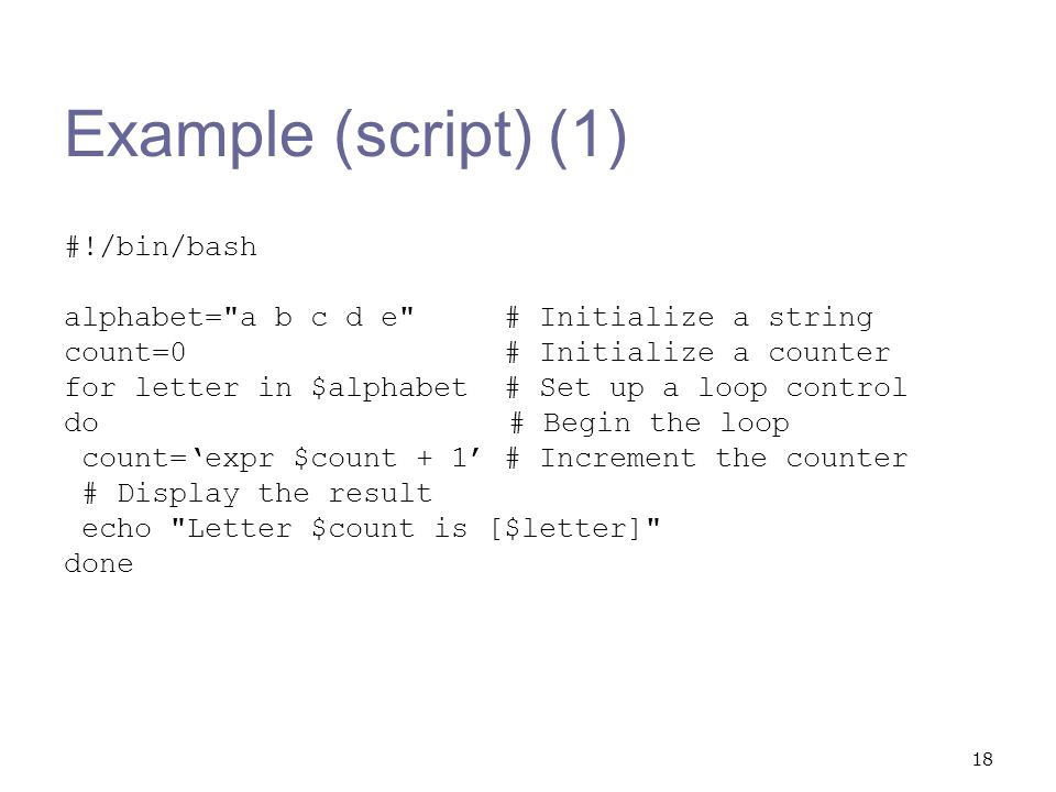 Shell Script Examples. - ppt video online download