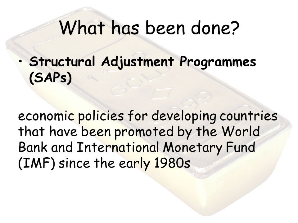 Goals and policies of the international monetary fund