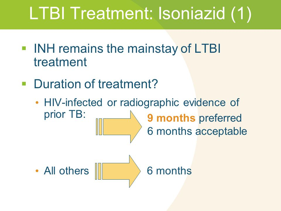 Treatment Regimens for Latent TB Infection | Treatment ...