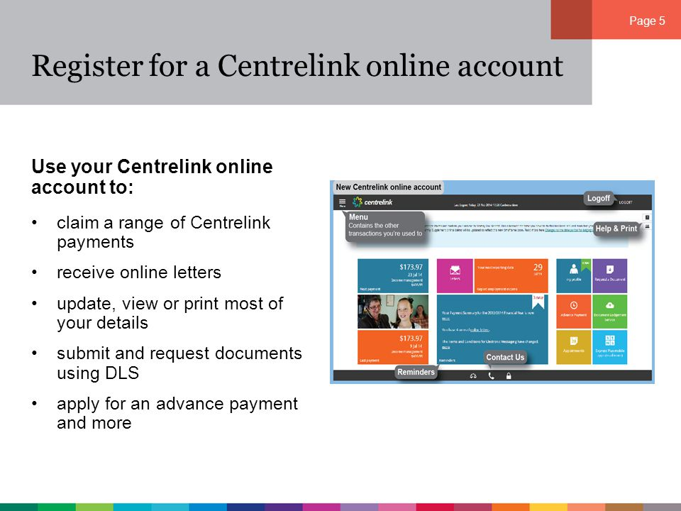 how to get online centrelink account