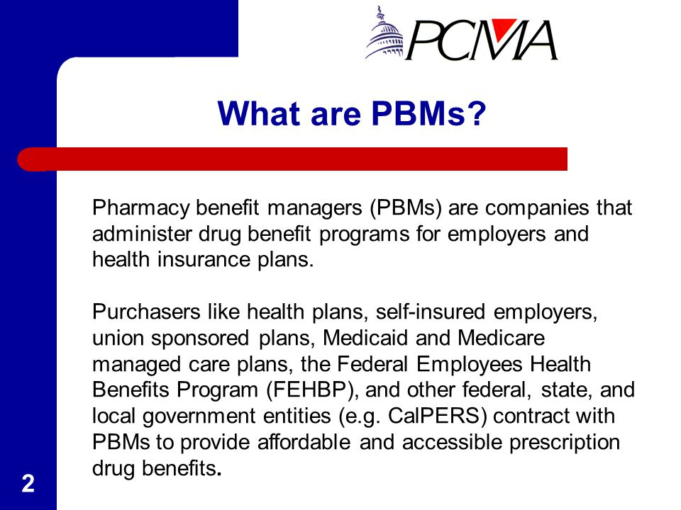 The role of pharmacy benefit management in handling and creating prescription drug plans