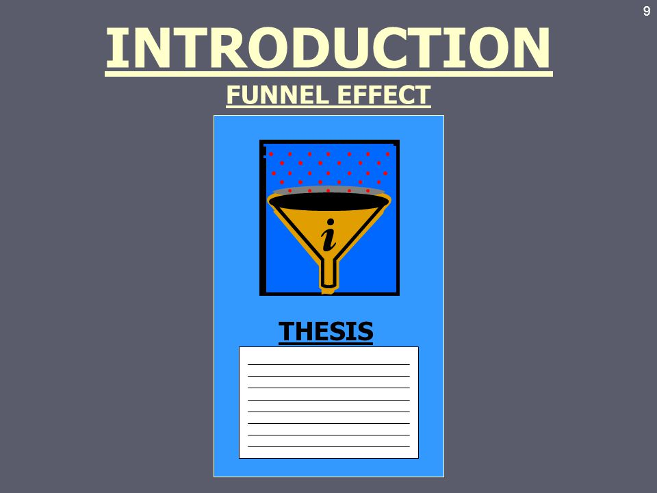 funnel introductory The goal is to funnel down smoothly so that the a-g doesn't lose its  1) you're  opening up the possibility for readers to say, no, and then they will tune you out .