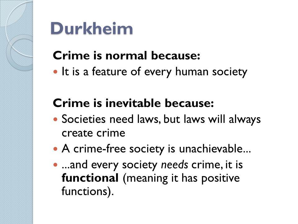 emile durkheim and crime