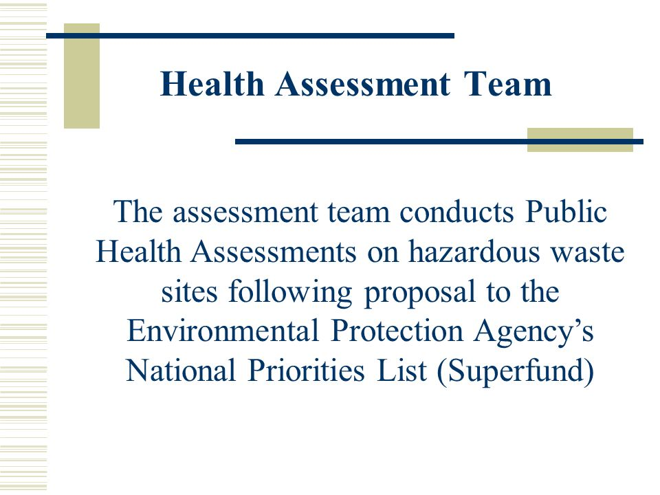 Health Assessment Team