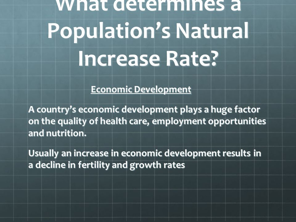 What determines a Population's Natural Increase Rate