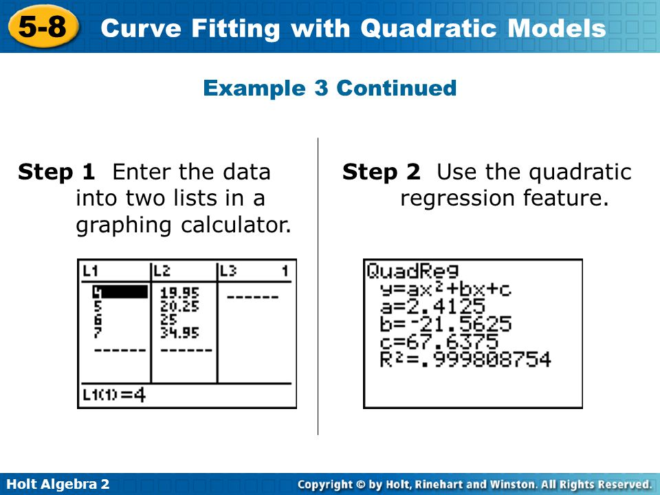 how to find concentration from quadratic fitting